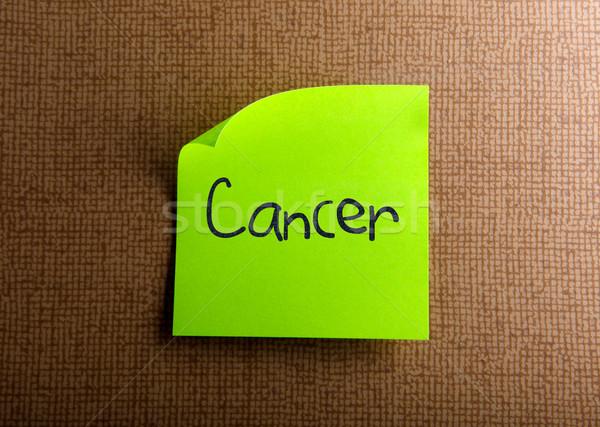 Cancro ufficio modello seno verde nota Foto d'archivio © nenovbrothers