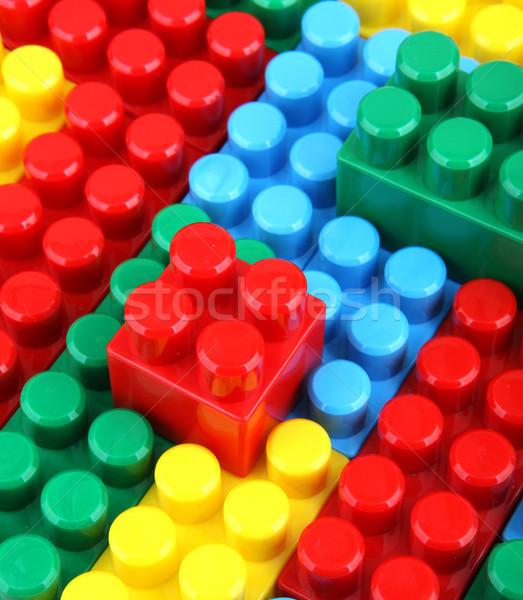 Renk çocukça bloklar Bina çocuklar okul Stok fotoğraf © nenovbrothers