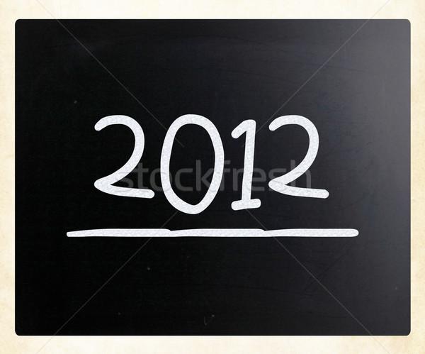 2012 klasy Tablica tle edukacji tabeli Zdjęcia stock © nenovbrothers