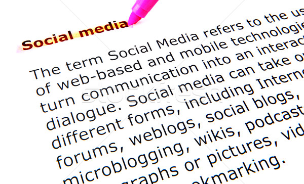social media Stock photo © nenovbrothers