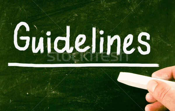 guidelines concept Stock photo © nenovbrothers