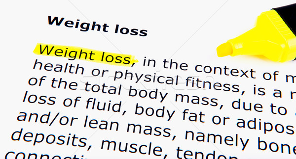 Weight loss Stock photo © nenovbrothers