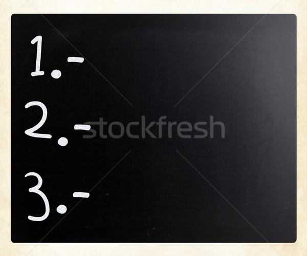 To do list witte krijt Blackboard teken Stockfoto © nenovbrothers