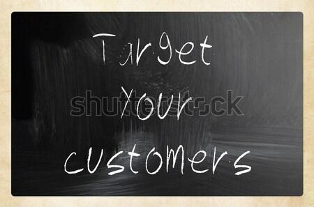 Stock fotó: Csapatmunka · kézzel · írott · fehér · kréta · iskolatábla · fekete
