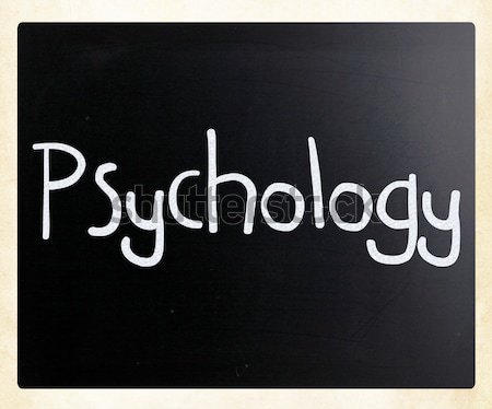 The word 'Psychology' handwritten with white chalk on a blackboa Stock photo © nenovbrothers