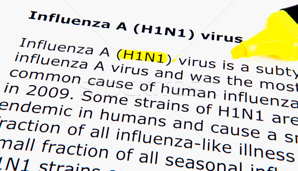 H1n1 grippe virus fille main Photo stock © nenovbrothers