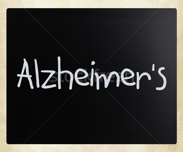 The word 'Alzheimer's' handwritten with white chalk on a blackbo Stock photo © nenovbrothers