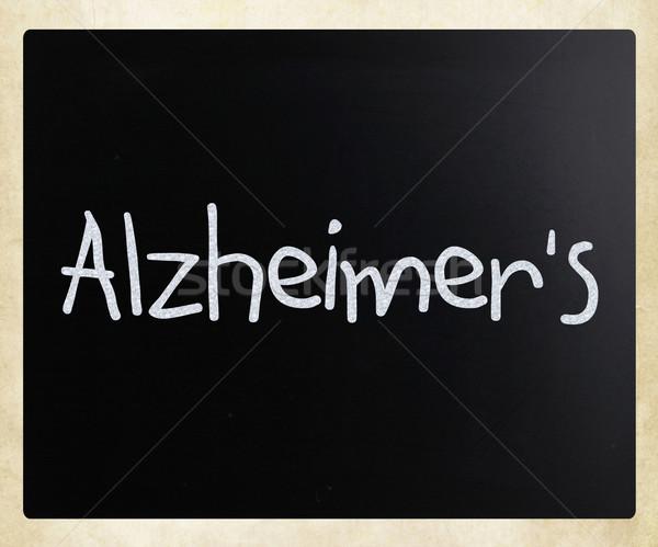 Szó Alzheimer kézzel írott fehér kréta iskolatábla Stock fotó © nenovbrothers