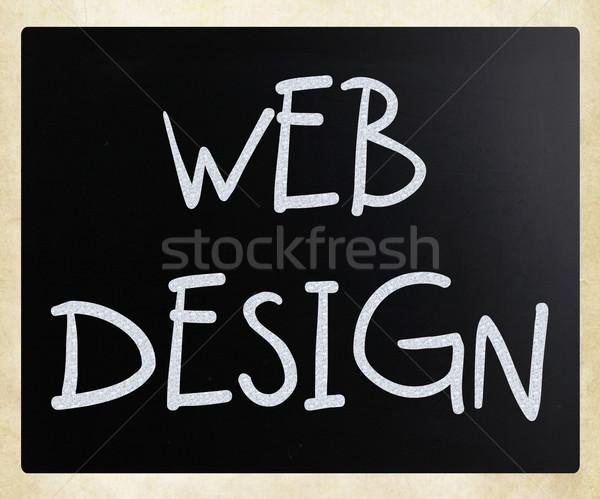 ストックフォト: Webデザイン · 白 · チョーク · 黒板 · テクスチャ