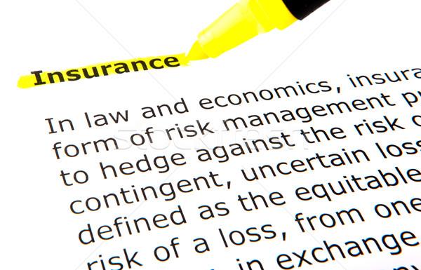 Insurance Stock photo © nenovbrothers