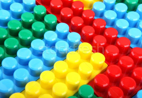 Kleur kinderachtig blokken gebouw kinderen school Stockfoto © nenovbrothers