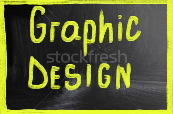Graphic design business internet design tecnologia web Foto d'archivio © nenovbrothers