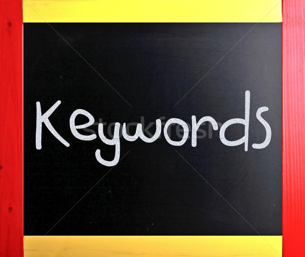 Woord witte krijt Blackboard business Stockfoto © nenovbrothers