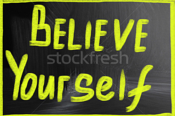 believe yourself Stock photo © nenovbrothers