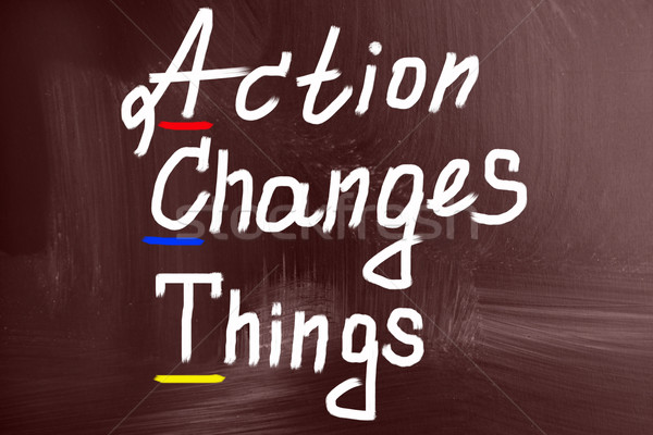 action change things concept Stock photo © nenovbrothers