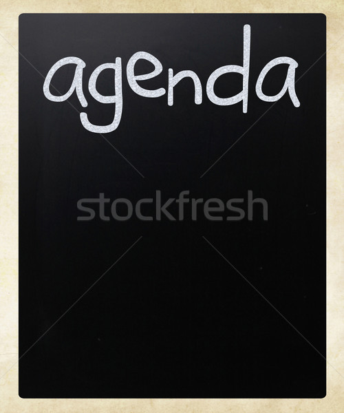 議題 白 チョーク 黒板 ストックフォト © nenovbrothers
