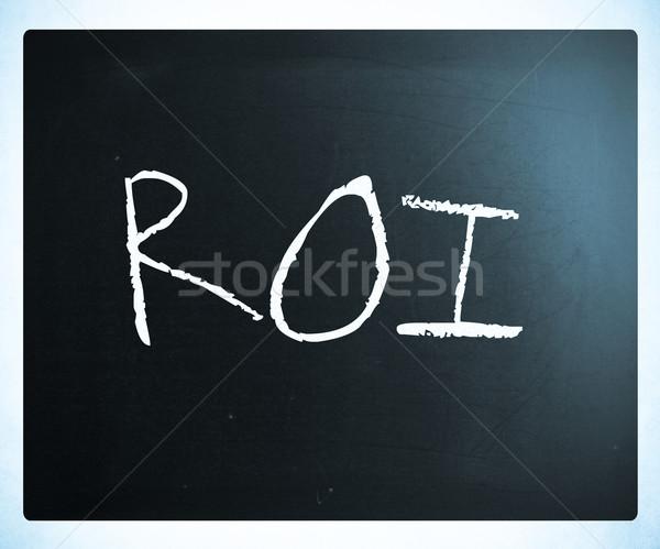 Szó roi kézzel írott fehér kréta iskolatábla Stock fotó © nenovbrothers
