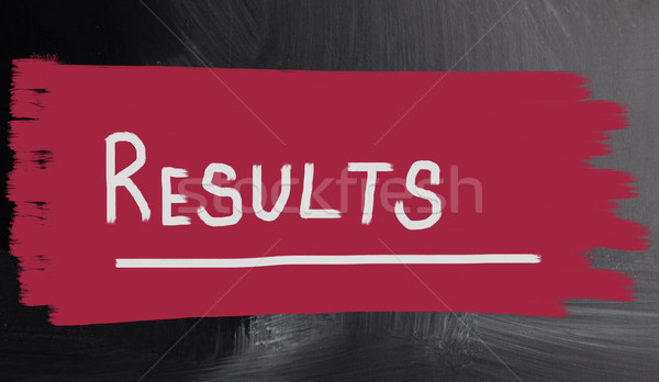 Stock photo: results concept