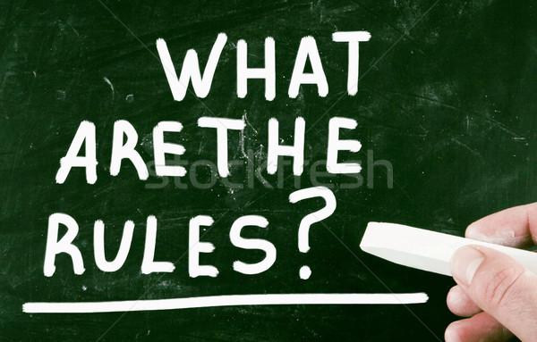 Ne kurallar yönetim öğrenmek cetvel danışman Stok fotoğraf © nenovbrothers