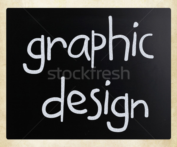 'Graphic design' handwritten with white chalk on a blackboard Stock photo © nenovbrothers