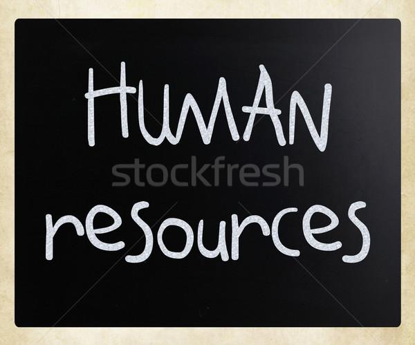 человека ресурсы белый мелом доске Сток-фото © nenovbrothers