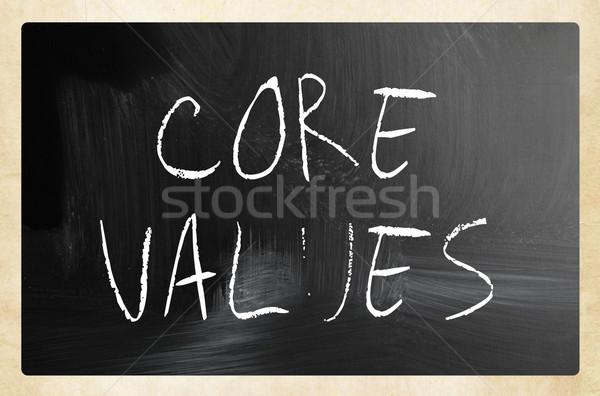 ética núcleo valores blanco tiza Foto stock © nenovbrothers