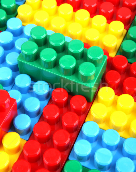 color childish blocks to the building Stock photo © nenovbrothers