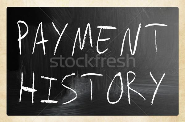Betaling geschiedenis witte krijt Blackboard Stockfoto © nenovbrothers