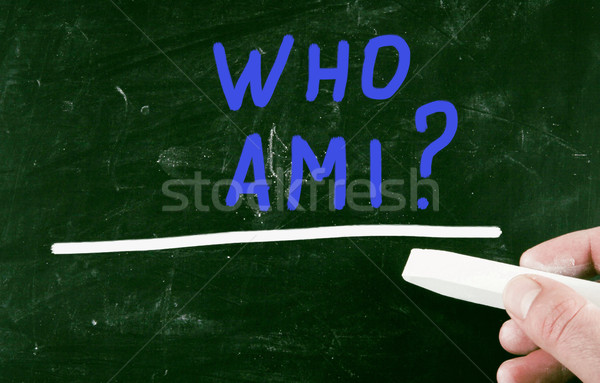 who am i ? Stock photo © nenovbrothers