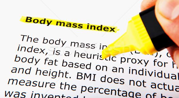 Vücut kitle gıda uygunluk egzersiz diyet Stok fotoğraf © nenovbrothers