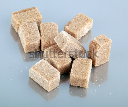 Brown sugar cubes Stock photo © nenovbrothers