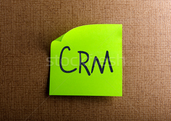 Crm business kantoor model groene communicatie Stockfoto © nenovbrothers