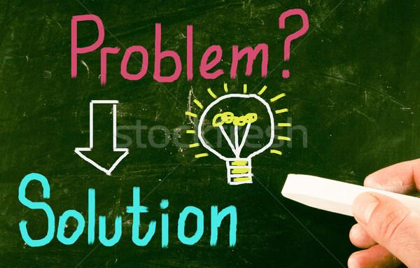 Oplossing onderwijs communicatie macht vraag versnelling Stockfoto © nenovbrothers