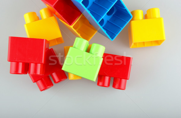 Plastic building blocks Stock photo © nenovbrothers