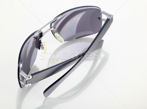 Kivágás női napszemüveg fehér Stock fotó © nenovbrothers