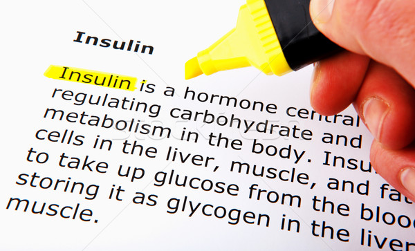 инсулин стороны тело кровь фон медицина Сток-фото © nenovbrothers