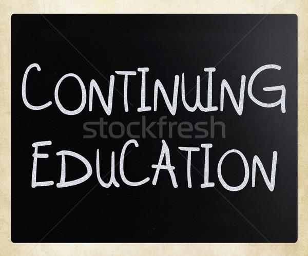 Foto d'archivio: Istruzione · manoscritto · bianco · gesso · lavagna · scuola