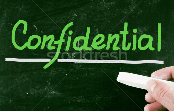 конфиденциальный цепь информации СМИ документа безопасной Сток-фото © nenovbrothers