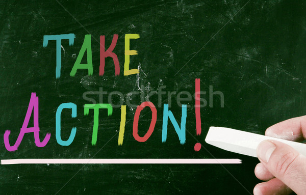 take action concept Stock photo © nenovbrothers