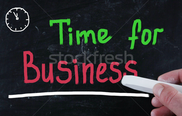 time for business concept Stock photo © nenovbrothers