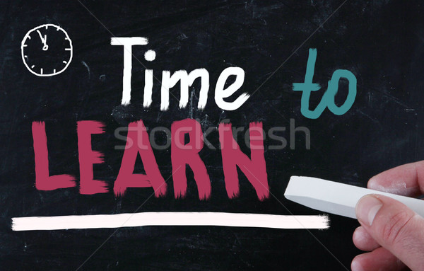 time to learn concept Stock photo © nenovbrothers