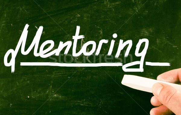 Mentoring business werk onderwijs opleiding ondersteuning Stockfoto © nenovbrothers