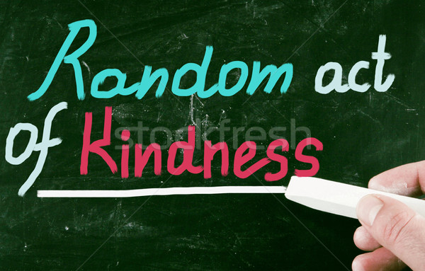 Toevallig handelen vriendelijkheid gelukkig denken ondersteuning Stockfoto © nenovbrothers