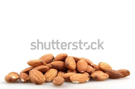 Amandel noten geïsoleerd natuur groep plant Stockfoto © nenovbrothers