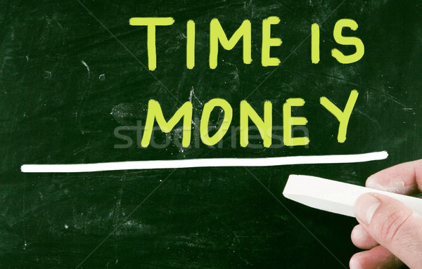 Tijd is geld business scherm werknemer grafiek evenwicht Stockfoto © nenovbrothers