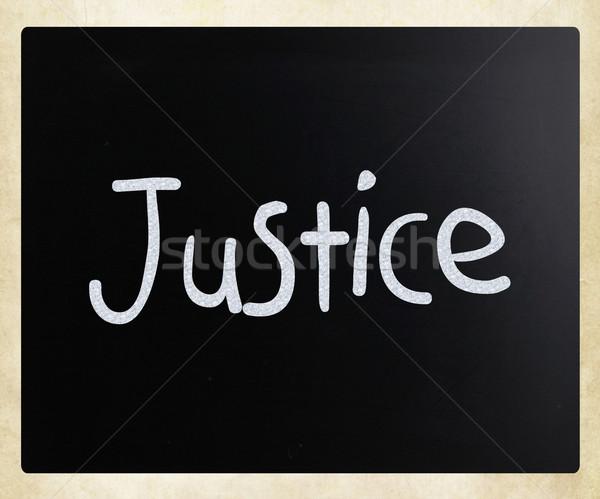 正義 白 チョーク 黒板 図書 ストックフォト © nenovbrothers