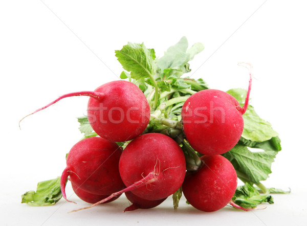 Red Garden Radish Isolated On White Background Stock photo © nenovbrothers