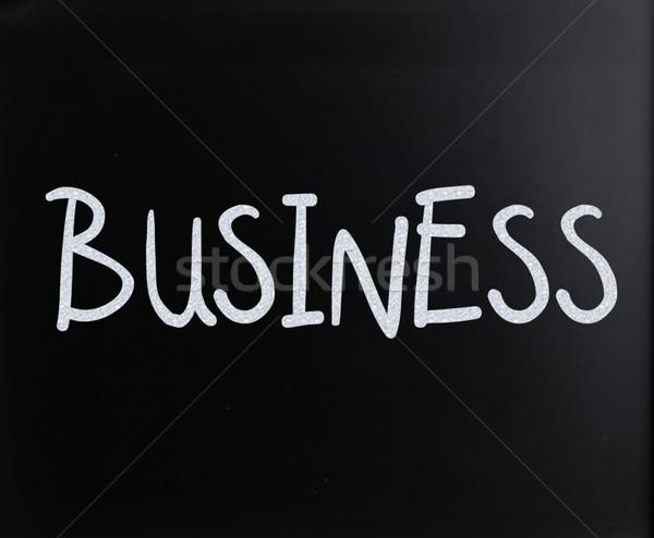 Сток-фото: слово · бизнеса · белый · мелом · доске