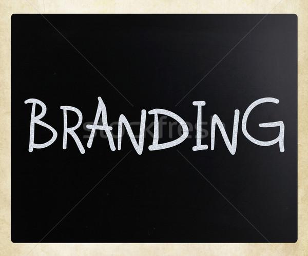 Branding witte krijt Blackboard business Stockfoto © nenovbrothers