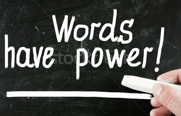 Palabras poder negocios escuela educación orador Foto stock © nenovbrothers